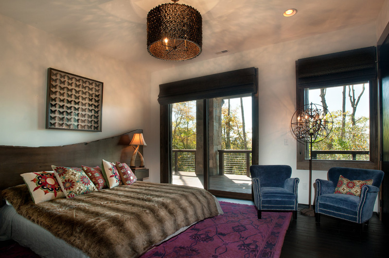 Двухэтажный домик - спальная комната
