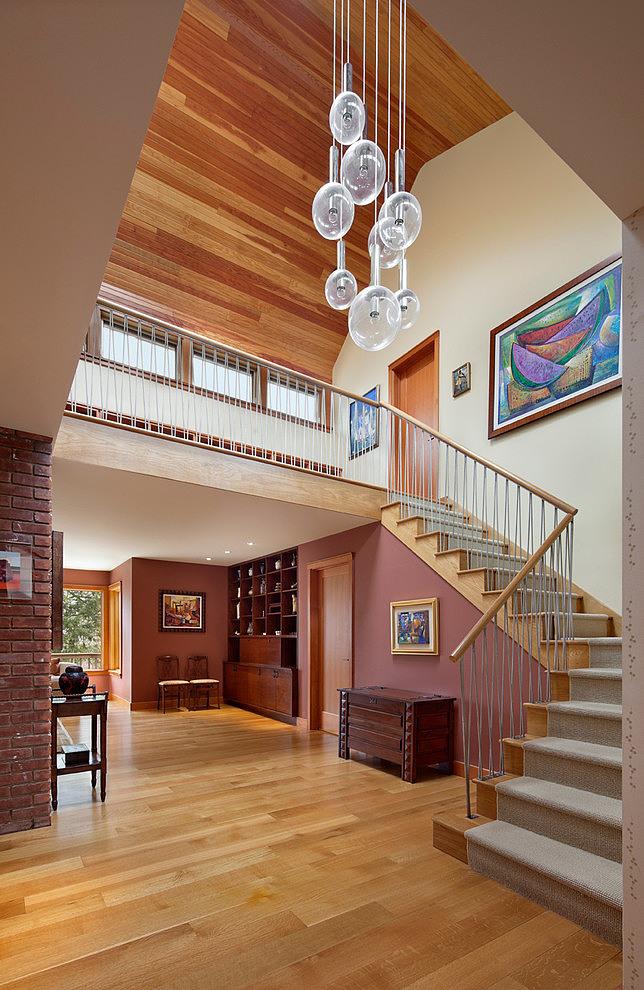 деревянный дом в стиле ранчо 5