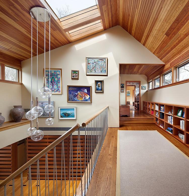 деревянный дом в стиле ранчо 11