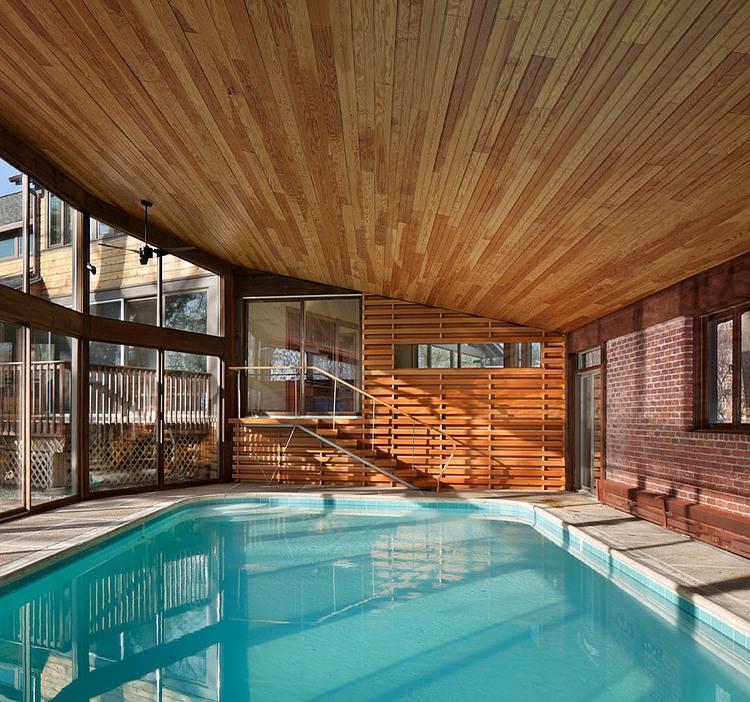 деревянный дом в стиле ранчо 9
