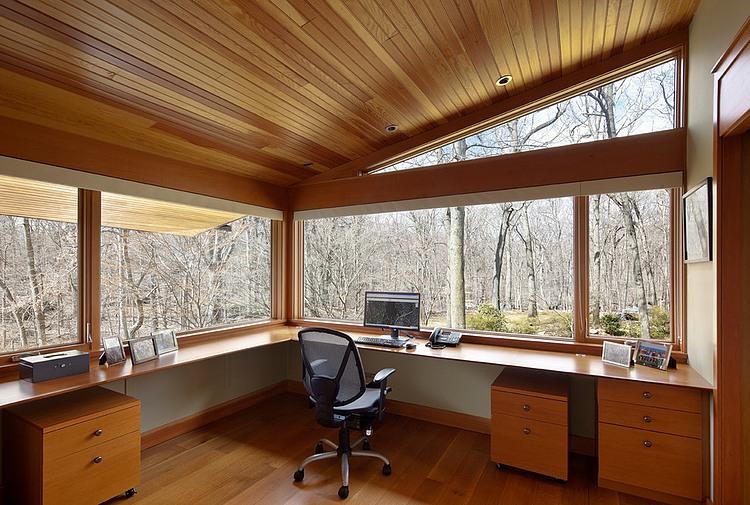 деревянный дом в стиле ранчо 8