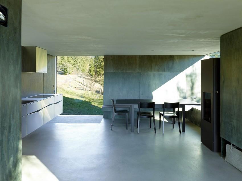 Загородный домик в стиле минимализм - интерьер