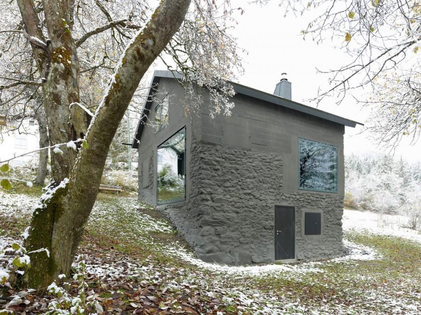 Экстерьер загородного домика в стиле минимализм