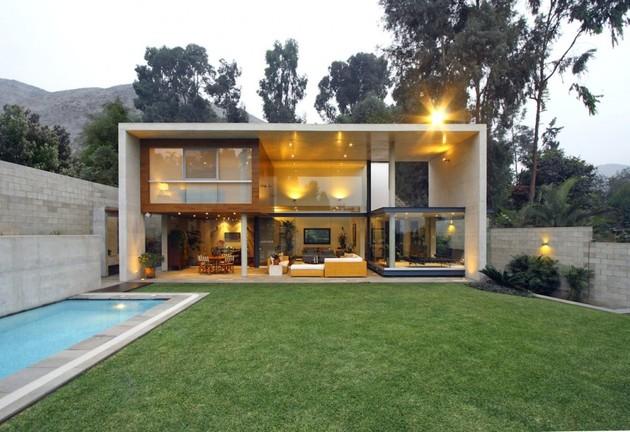 Железобетонный дом с великолепной планировкой