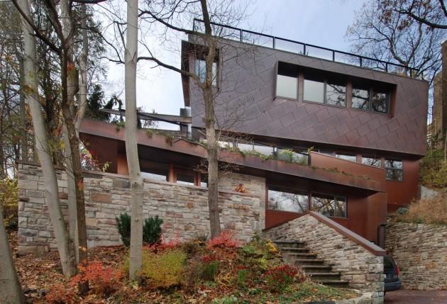 дом с плоской крышей фото