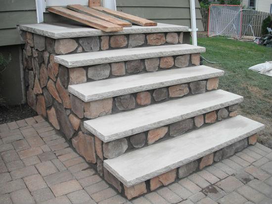 Полукруглые ступени крыльца из бетона своими руками фото 33