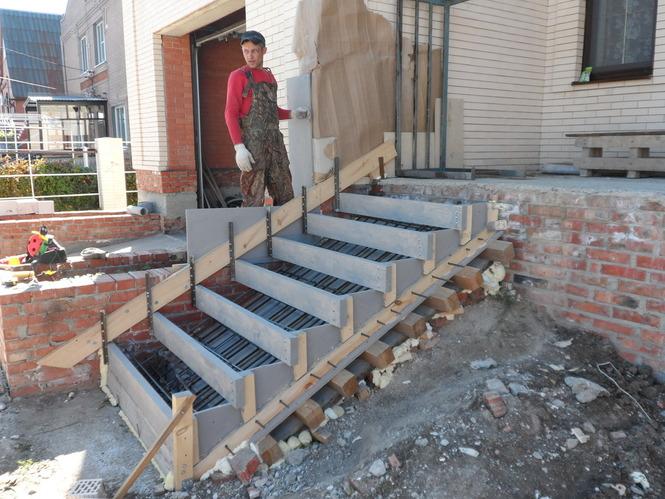 Опалубка для лестницы крыльца своими руками