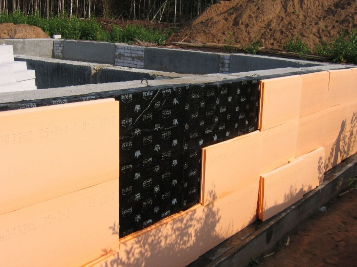 Экранная гидроизоляция фундамента двухсторонняя гидроизоляция технонеколь