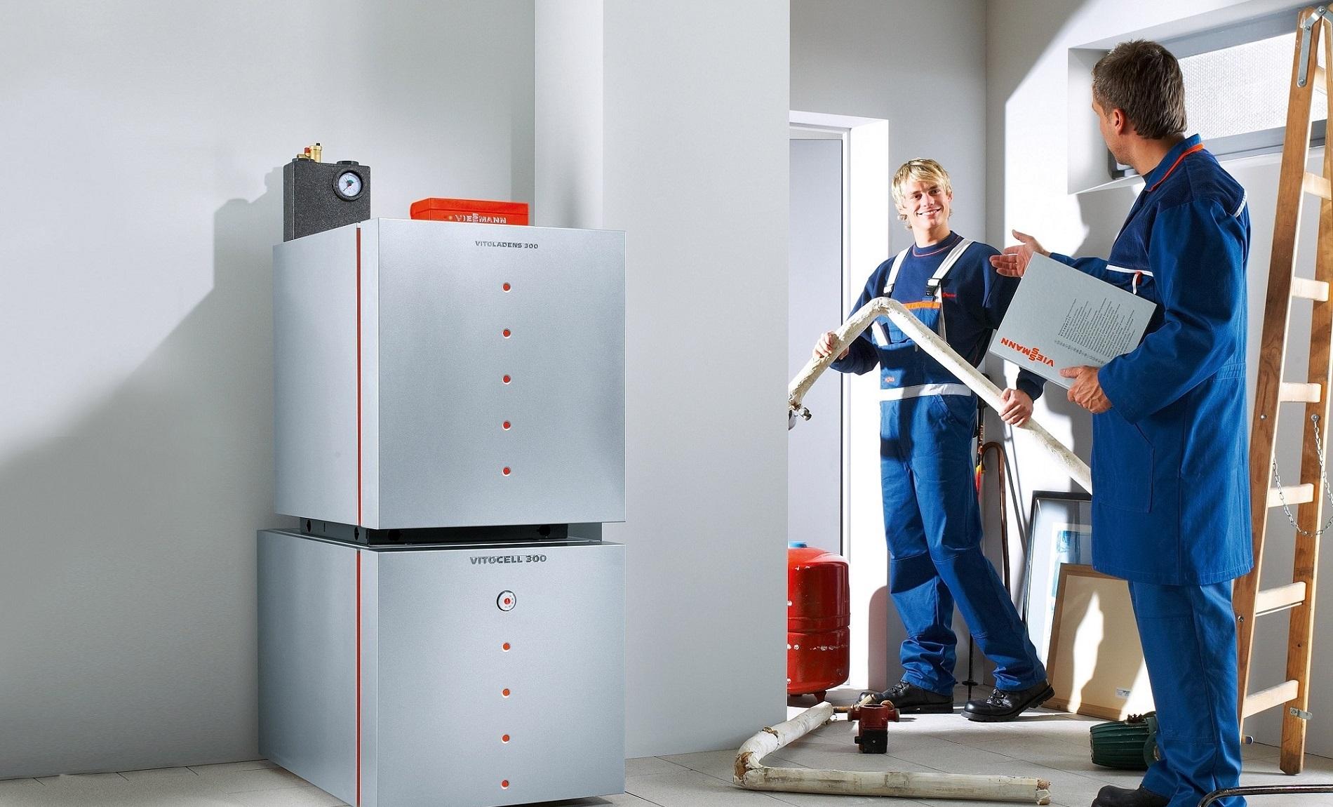 монтаж газового отопления