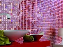 как клеить мозаичную плитку на сетке