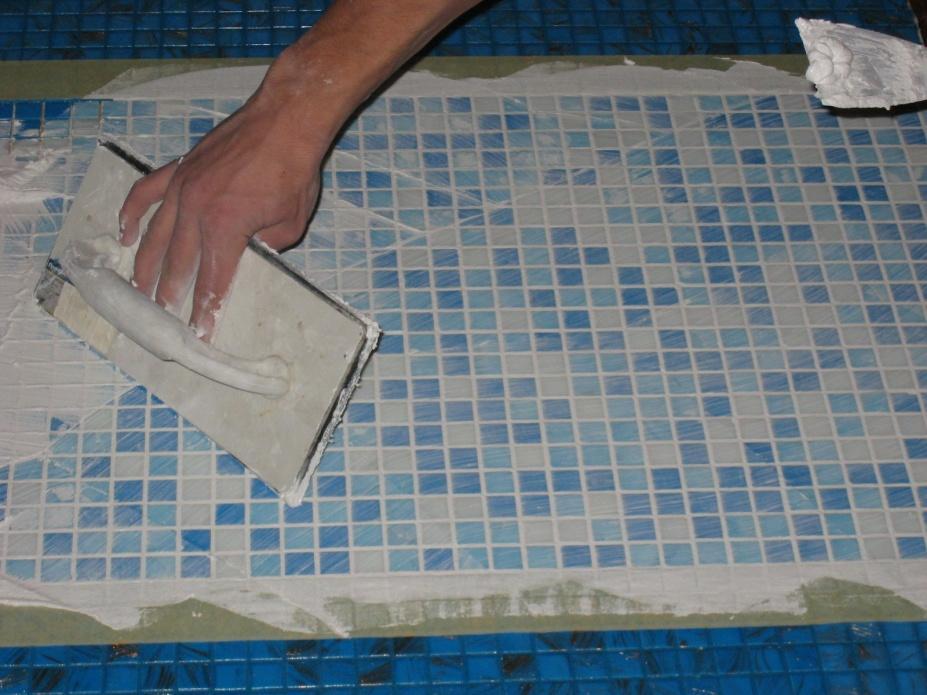 Укладка плитки на сетку