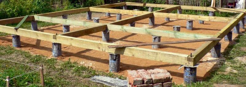 Как сделать фундамент под дом из бруса