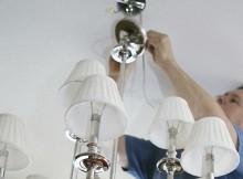 Схема подключения люстры с двойным выключателем