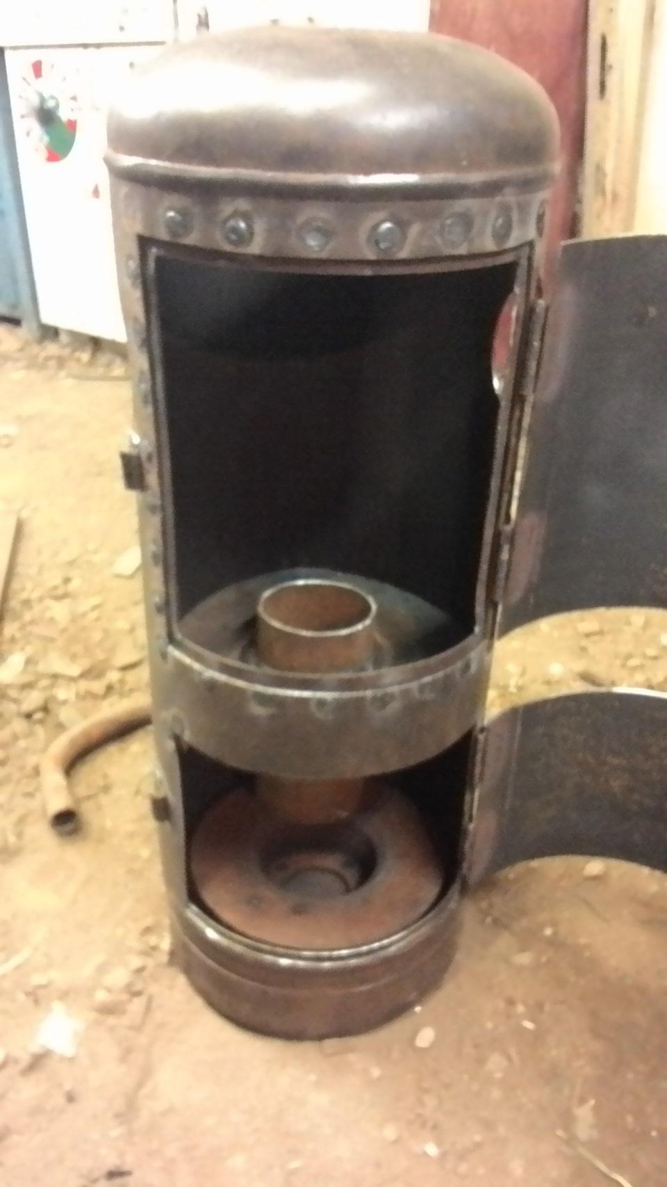 печь на отработке из газового баллона