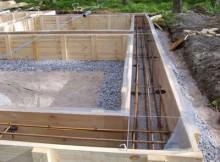 Строительство фундамента для бани своими руками